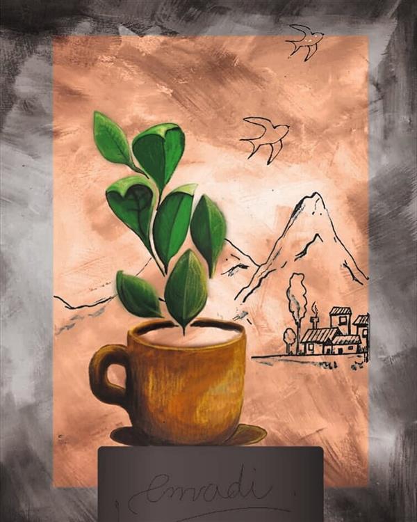 هنر نقاشی و گرافیک محفل نقاشی و گرافیک کتایون عمادی #دیجیتال پیتتیتگ #قابل پرینت