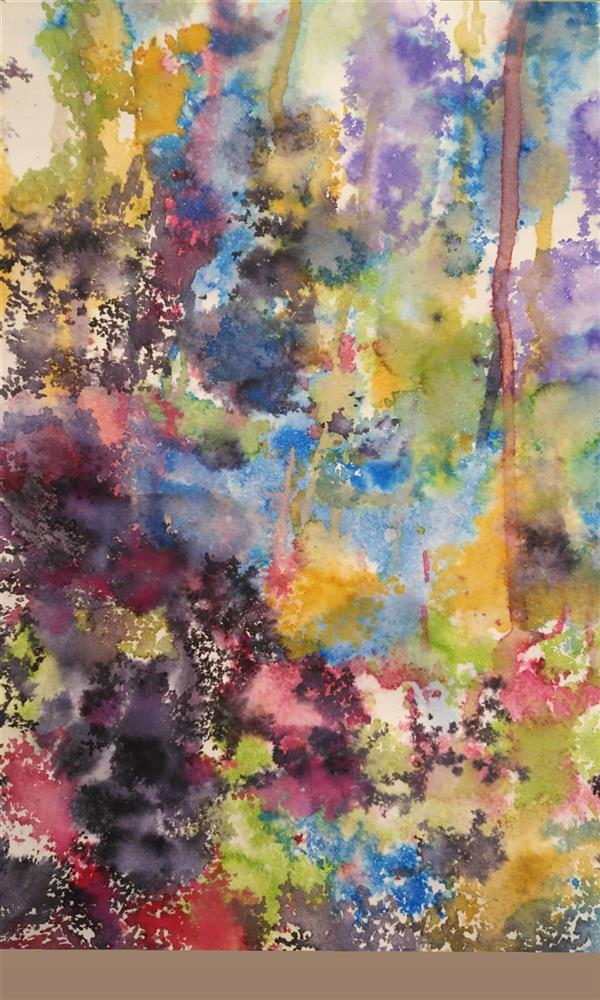 هنر نقاشی و گرافیک محفل نقاشی و گرافیک کتایون عمادی #اکولین #انتزاعی #a3