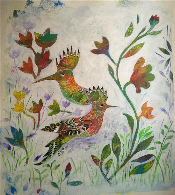 هنر نقاشی و گرافیک محفل نقاشی و گرافیک کتایون عمادی #اکریلیک #50*50