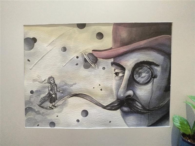 هنر نقاشی و گرافیک محفل نقاشی و گرافیک کتایون عمادی #آبرنگ #a3 #شازده کوچولو