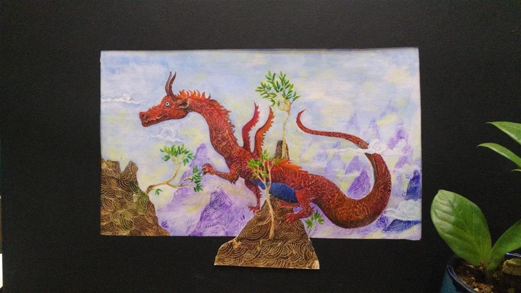 هنر نقاشی و گرافیک محفل نقاشی و گرافیک کتایون عمادی #تصویرسازی #رنگ روغن #داستانهای مثنوی مولوی
