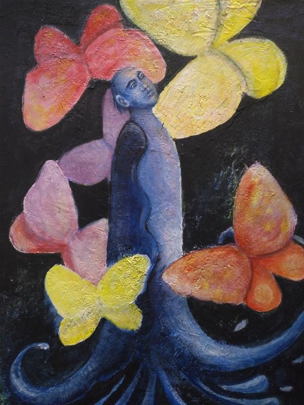 هنر نقاشی و گرافیک محفل نقاشی و گرافیک کتایون عمادی #اکریلیک #a2 #تمنا