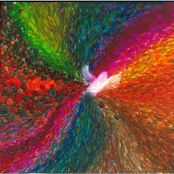 هنر نقاشی و گرافیک محفل نقاشی و گرافیک مهشیدی مرغ ملکوت نماد انسانیست که در آرمان و هدف والای آزادی خواهی و رهاشدن از روزمرگی ها و وابستگی های  جهان الوان و رنگارنگ امروز است.