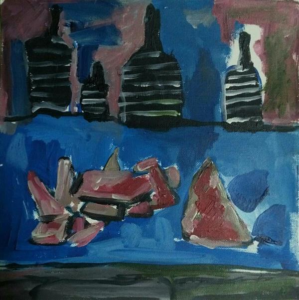 هنر نقاشی و گرافیک محفل نقاشی و گرافیک فاطمه تقی پور #نام هنرمندفاطمه تقی پور#نام اثر روح بیمار#تکنیک اکریلیک روی مقوا#ابعاد20/20سانتیمتر