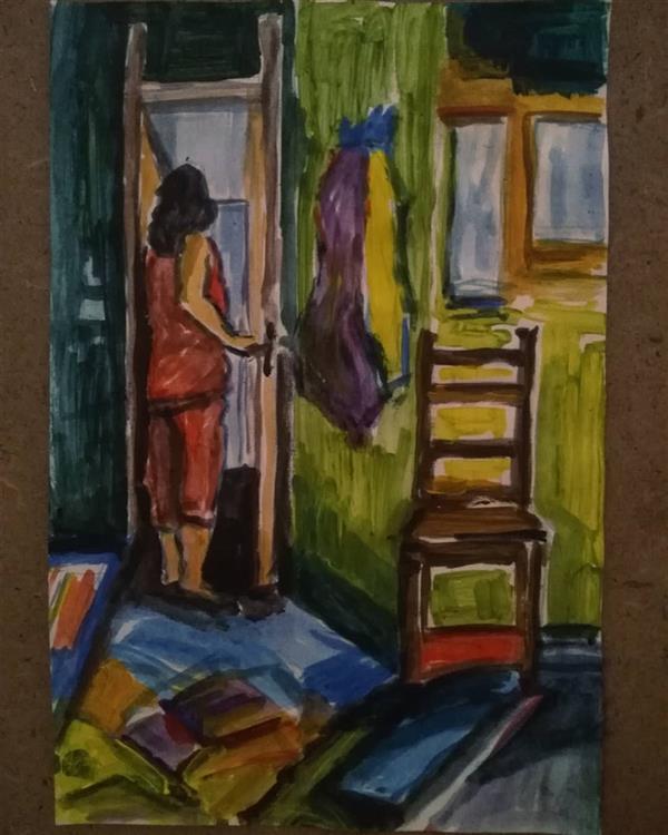 هنر نقاشی و گرافیک محفل نقاشی و گرافیک فاطمه تقی پور #30*20 #اکریلیک #مقوا #مجموعه_قرنطینگی #فاطمه_تقی_پور