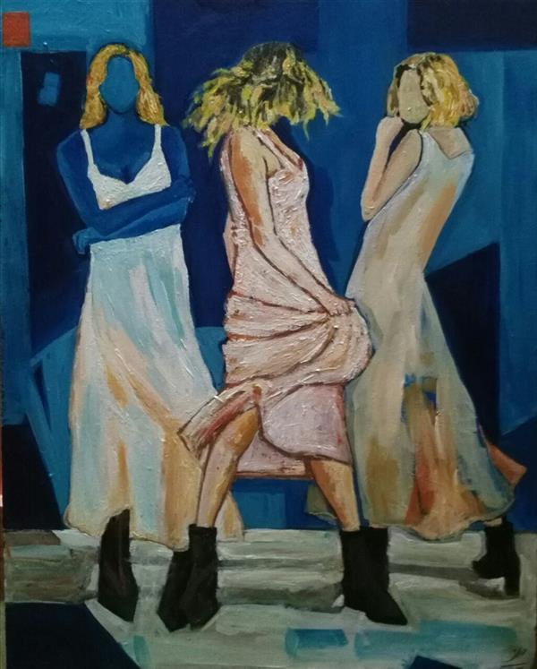هنر نقاشی و گرافیک محفل نقاشی و گرافیک فاطمه تقی پور #نام هنرمند فاطمه تقی پور#نام اثر  مبهوت#تکنیک اکریلیک روی بوم 40/50سانتیمتر