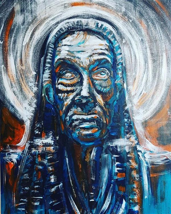 هنر نقاشی و گرافیک محفل نقاشی و گرافیک rambod abdi fakhrai پادشاه شهر کورها - نمادیست از انسانی یک چشم با رنگهایی که اصالت شخصیت و نیات او را به نمایش میگذارد.