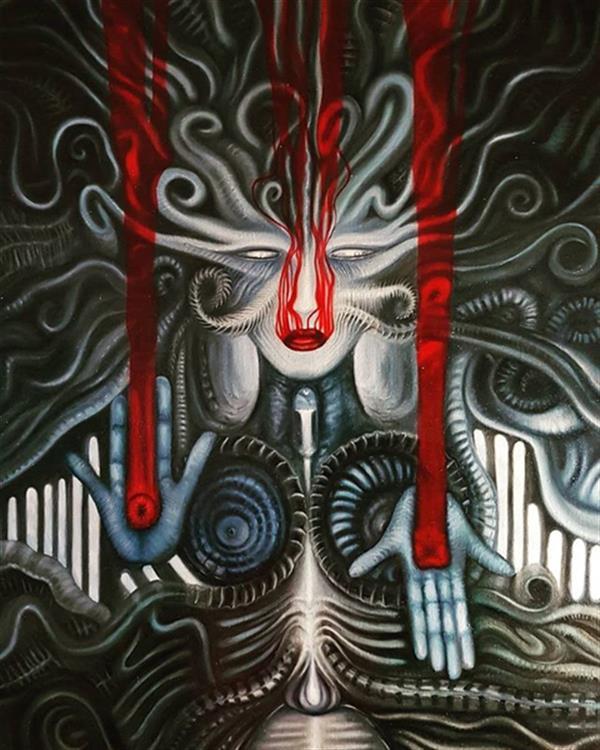 هنر نقاشی و گرافیک محفل نقاشی و گرافیک rambod abdi fakhrai (Anahita of now)- آناهیتای اکنون - رنگ روغن بر بوم - سایز 60*80