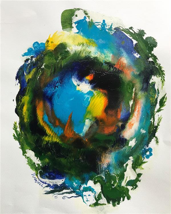 هنر نقاشی و گرافیک محفل نقاشی و گرافیک مژده سیادت خلوتگاه تنهایی #اکرلیک ٢٥در٣٥ #مقوا آبرنگ #عاشقانه #تنهایی