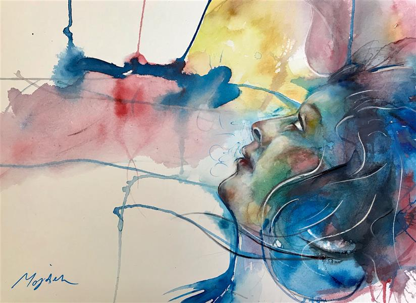 هنر نقاشی و گرافیک محفل نقاشی و گرافیک مژده سیادت آبرنگ بر روی کاغذ۳۰۰ # 35*45# #کوید ۱۹