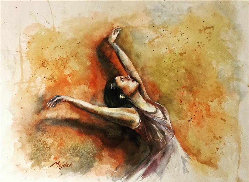 هنر نقاشی و گرافیک محفل نقاشی و گرافیک مژده سیادت نگرانی ها رو فراموش کن! #۳۵x۴۵  #رقص #فیگوراتیو #آبرنگ  #رها #حسی