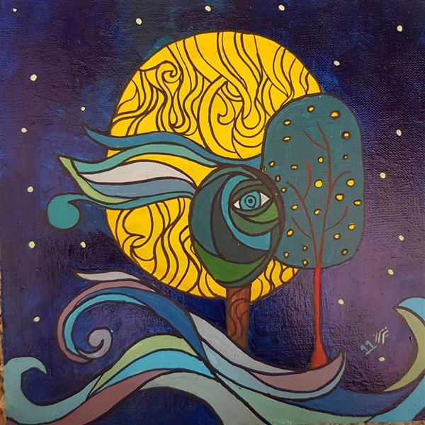هنر نقاشی و گرافیک محفل نقاشی و گرافیک نگین خلیلی #موصوع:چشم زخم