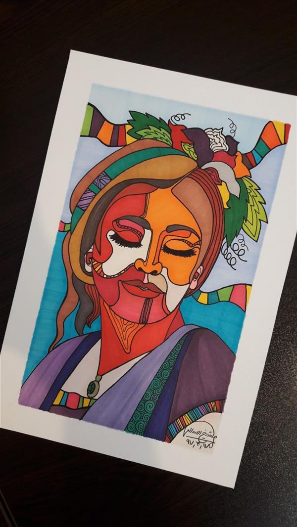 هنر نقاشی و گرافیک محفل نقاشی و گرافیک یگانه شیخالاسلامی طراحی پرتره با تکنیک ماژیک/قطع A4 #نقاشی_ماژیک #تصویرسازی #نقاشی_پرتره #گالری_بادرنگ #baadranggallery