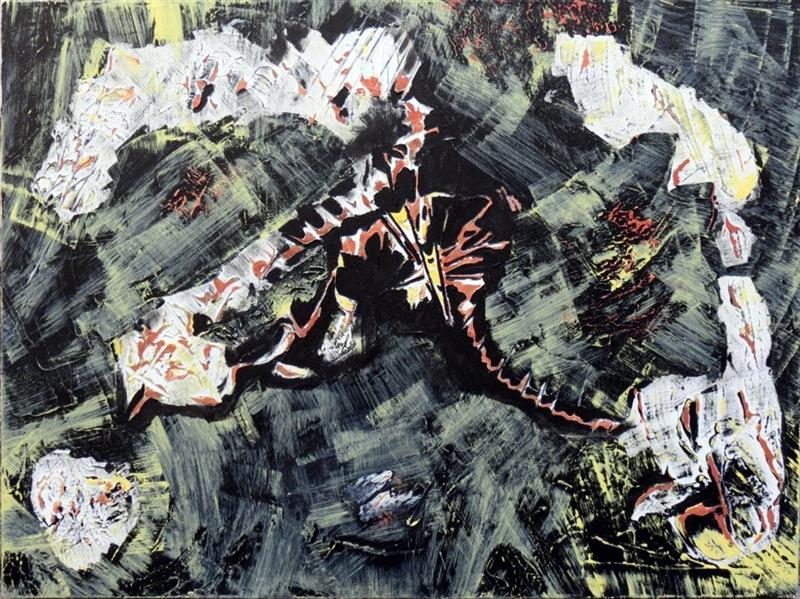 هنر نقاشی و گرافیک محفل نقاشی و گرافیک سارا ابوالصدق نام اثر:تاریکی درپس روشنایی،متریال:میکس مدیا،تکنیک:تکسچر،سال اثر:پاییز1396