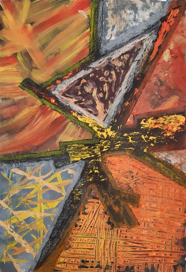 هنر نقاشی و گرافیک محفل نقاشی و گرافیک سارا ابوالصدق نام اثر:بافت پاییز،ابعاد:40×30،متریال:میکس مدیا،تکنیک:تکسچر،سال اثر:بهار1397