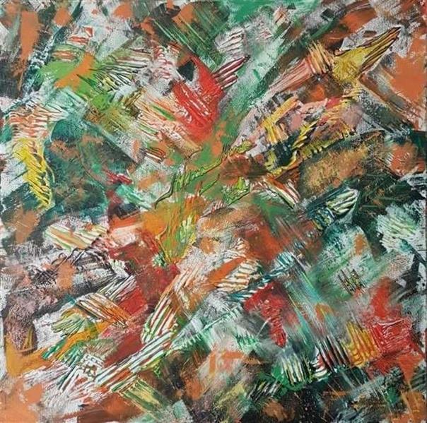 هنر نقاشی و گرافیک محفل نقاشی و گرافیک سارا ابوالصدق نام اثر:هیجان ذهنی متریال :میکس مدیا تکنیک:تکسچر سال اثر :بهار۱۳۹۷