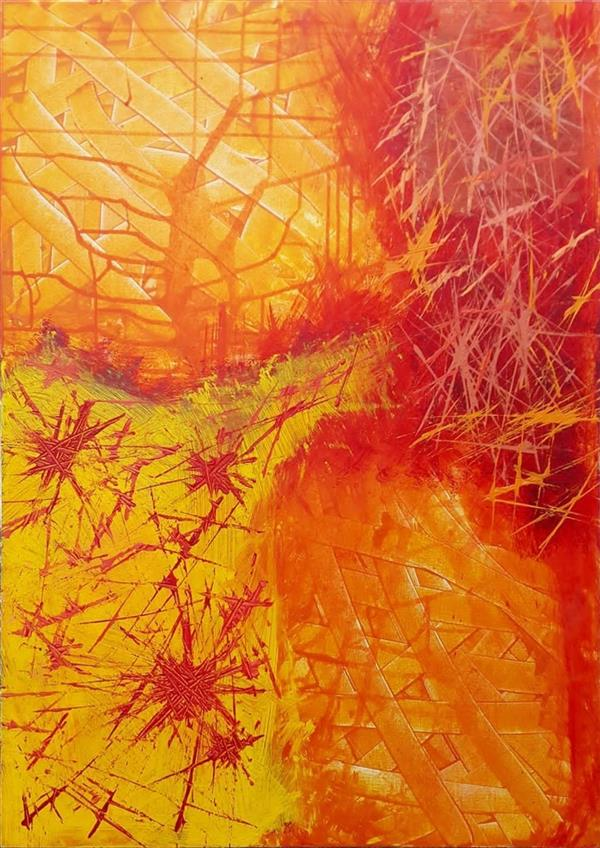 هنر نقاشی و گرافیک محفل نقاشی و گرافیک سارا ابوالصدق نام اثر :رگه های نارنجی ،متریال :میکس مدیا ،تکنیک :تکسچر،سال اثر:پاییز1395