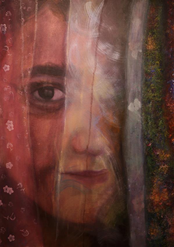 هنر نقاشی و گرافیک محفل نقاشی و گرافیک حورا پیشقدم آکرلیک، مختلط #حورا_پیشقدم  #کودکی با بادبادک های رنگینش سال۹۷