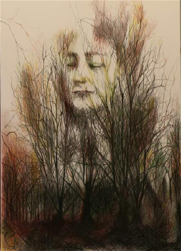 هنر نقاشی و گرافیک محفل نقاشی و گرافیک حورا پیشقدم رهایی، مدادرنگی، 60*40 #hoorapishghadam #حورا پیشقدم