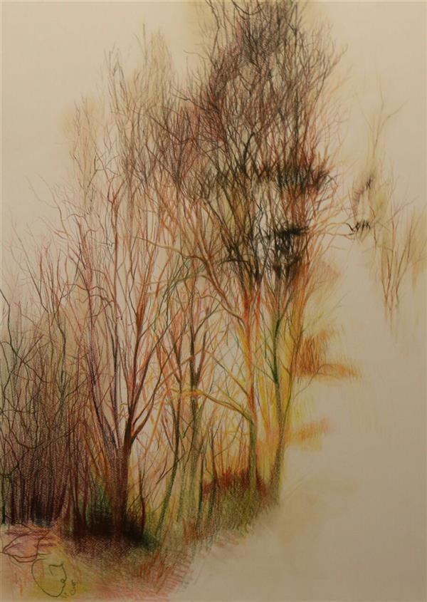 هنر نقاشی و گرافیک محفل نقاشی و گرافیک حورا پیشقدم آرامش، مدادرنگی،  60*40 #hoorapishghadam #حورا پیشقدم