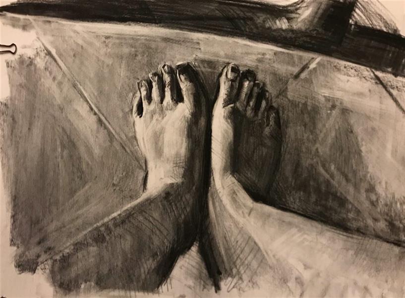 هنر نقاشی و گرافیک محفل نقاشی و گرافیک Mahnaz keyhani #acrylic #expretion #drawing #charcoaldrawing
