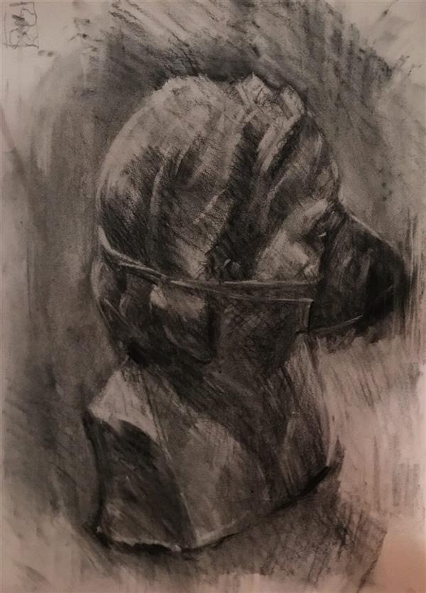 هنر نقاشی و گرافیک محفل نقاشی و گرافیک Mahnaz keyhani #expretion #drawing #charcoaldrawing #art #artist