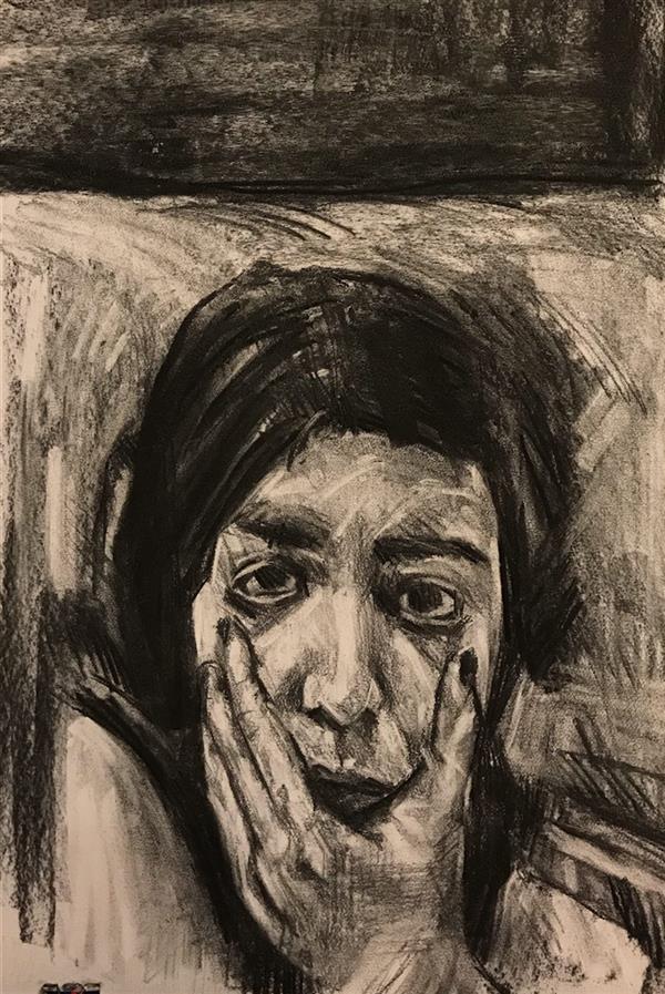 هنر نقاشی و گرافیک محفل نقاشی و گرافیک Mahnaz keyhani #expretion #drawing #charcoaldrawing #art #artist #زغال