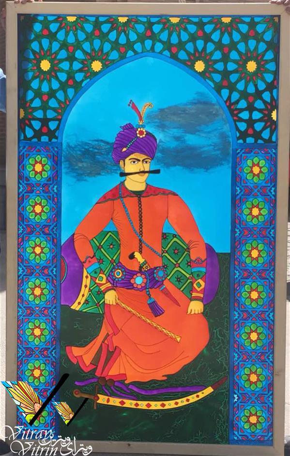 هنر نقاشی و گرافیک محفل نقاشی و گرافیک احمد شکاری قاب ویترای شاه عباس نقاشی شده روی شیشه سایز پایه ۱.۳*۱.۸ متر  همچنین در سایز های مختلف قابل ارائه می باشد (فروش رفته است) #فروخته_شد