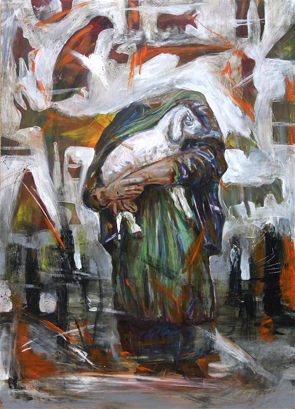 هنر نقاشی و گرافیک محفل نقاشی و گرافیک پدرام فرخ نیا سال ۱۳۹۹  اکرلیک روی چوب
