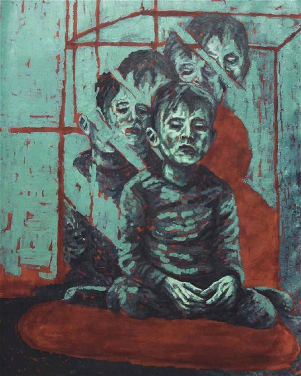 هنر نقاشی و گرافیک محفل نقاشی و گرافیک علی آلبوشوکه Leave the lights on...acrylic on canvas...100x140cm...feb.2018 #painting#acrylicpainting#figurativeart#contemporaryart#experessiveart