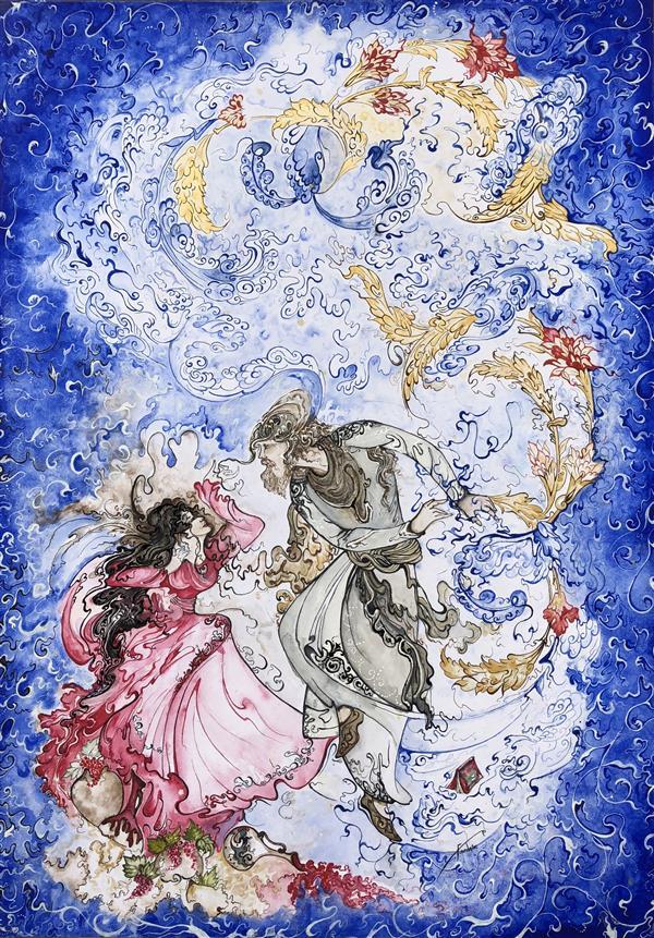 هنر نقاشی و گرافیک محفل نقاشی و گرافیک Rose Farshin نام اثر: Dream تکنیک: Acrylic & watercolor سایز: 50 * 70