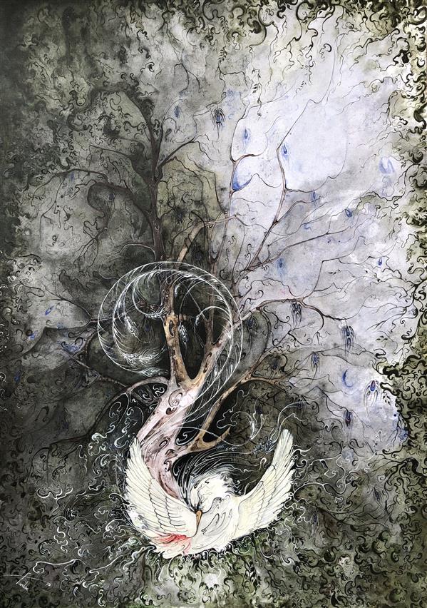 هنر نقاشی و گرافیک محفل نقاشی و گرافیک Rose Farshin نام اثر: Warrior تکنیک: Acrylic & watercolor سایز: 50 * 70