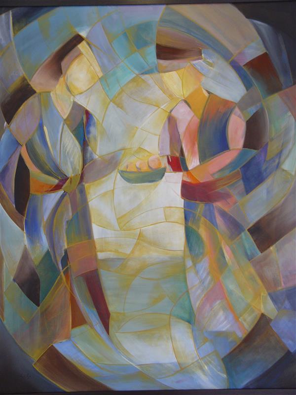 هنر نقاشی و گرافیک محفل نقاشی و گرافیک فرناز بهشتی آکریلیک روی بوم سبک: کوبیسم اندازه100×120