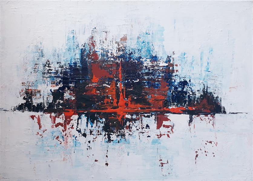 هنر نقاشی و گرافیک محفل نقاشی و گرافیک فرناز بهشتی آکریلیک روی بوم سبک آبستره اندازه35×25