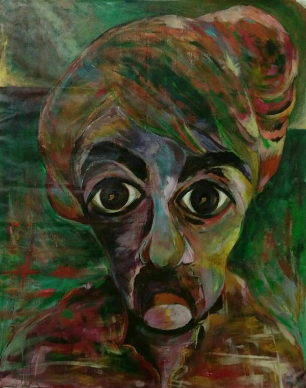 هنر نقاشی و گرافیک محفل نقاشی و گرافیک ناصح آبافت #سلف_پرتره_ #اکسپرسیونیسم #اکرلیک_روی_بوم.  ۱۰۰*۷۰