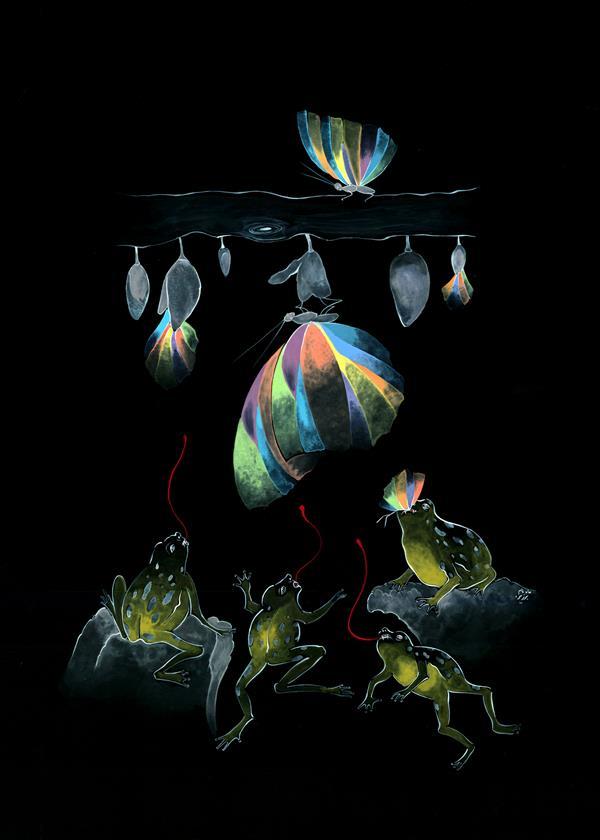 هنر نقاشی و گرافیک محفل نقاشی و گرافیک mahnam barzin #تکنیک : #گواش #اندازه : ۵۰*۷۰
