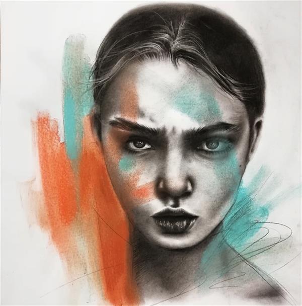 هنر نقاشی و گرافیک محفل نقاشی و گرافیک پونه گیل #کنته#پاستل ۵۰ ×۷۰