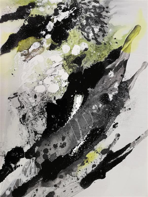 هنر نقاشی و گرافیک محفل نقاشی و گرافیک پونه گیل ابستره  ترکیب مواد  ۵۰×۷۰