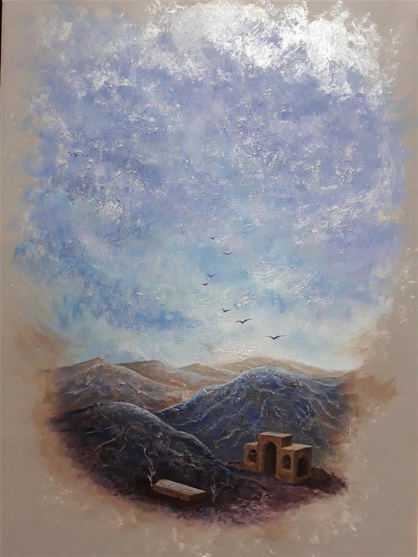 هنر نقاشی و گرافیک محفل نقاشی و گرافیک سمیه شکری از مجموعه: گور ترکیب مواد روی بوم  ابعاد: 50×70
