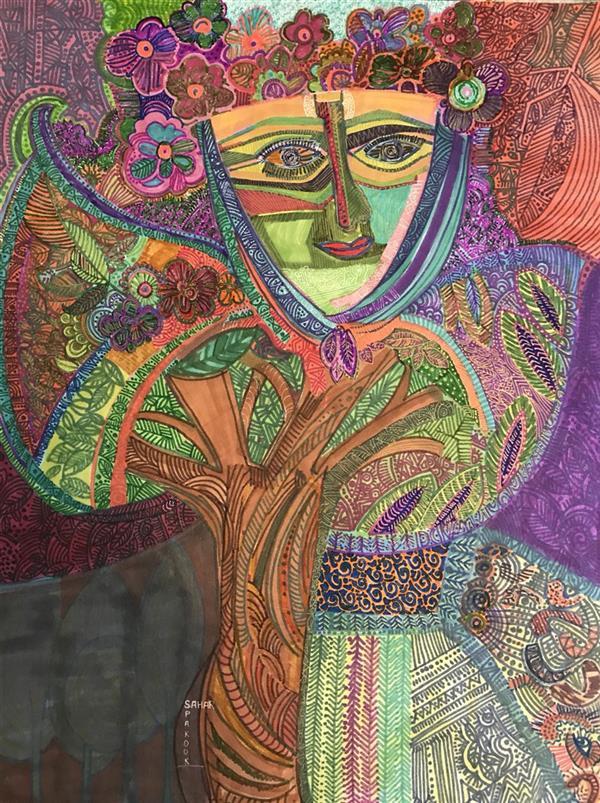 هنر نقاشی و گرافیک محفل نقاشی و گرافیک سحرپکوک #مادرطبیعت#تهران#