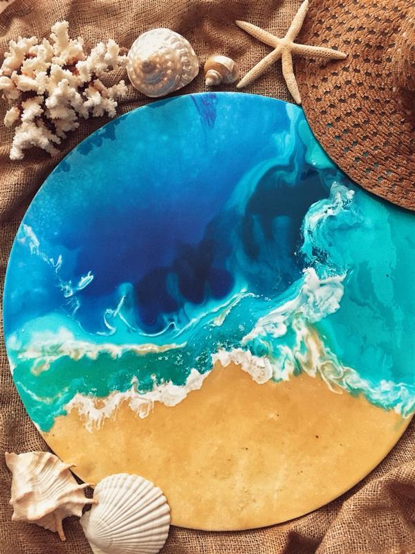 هنر نقاشی و گرافیک محفل نقاشی و گرافیک جورکش 🌊آبی اقیانوس را به یادگار ببرید🌊 تابلو ضد آب سایز: ٦٠ در ٦٠ @aquaa_art