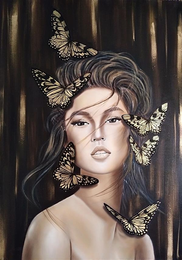 هنر نقاشی و گرافیک محفل نقاشی و گرافیک منا علی محمدی تکنیک رنگ روغن ،کار شده با ورق طلا سایز:70*50 #رنگ_روغن_روی_بوم #ورق_طلا #تابلو_نقاشی #تابلو_دکوراتیو #تابلو_خاص #تابلو_دکوراتیو