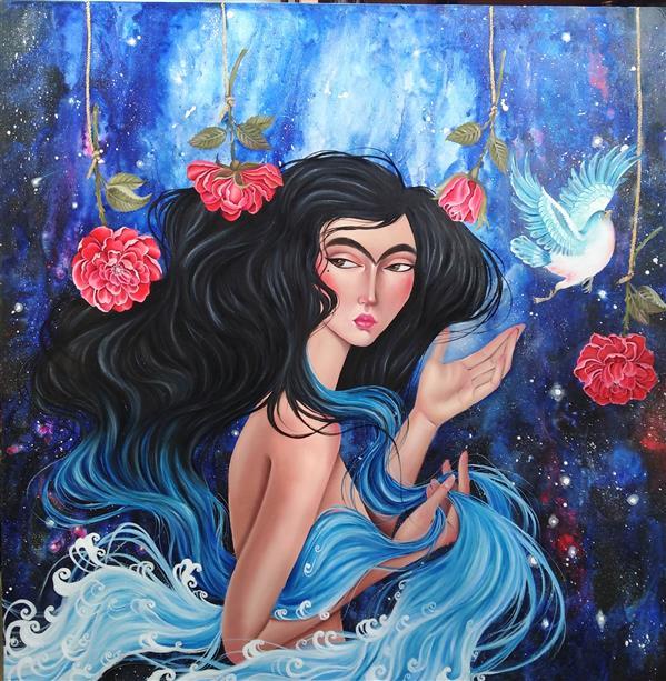 هنر نقاشی و گرافیک محفل نقاشی و گرافیک منا علی محمدی نام اثر :منا تکنیک:رنگ روغن  و اکرلیک روی بوم #رنگ_روغن_روی_بوم #اکرلیک_روی_بوم #نقاشی_ارجینال #