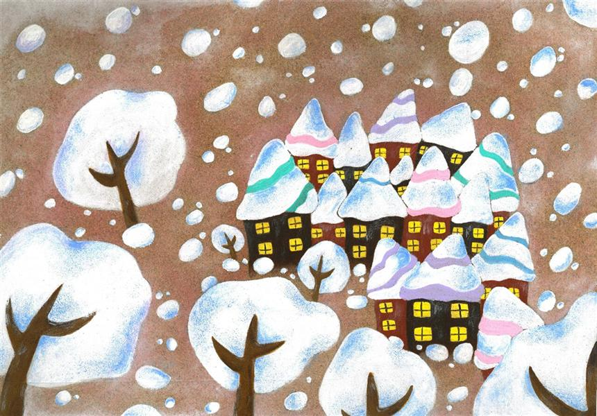هنر نقاشی و گرافیک محفل نقاشی و گرافیک شقایق کندری #تصویرسازی عنوان: #زمستان_گرم  تکنیک: #اکریلیک