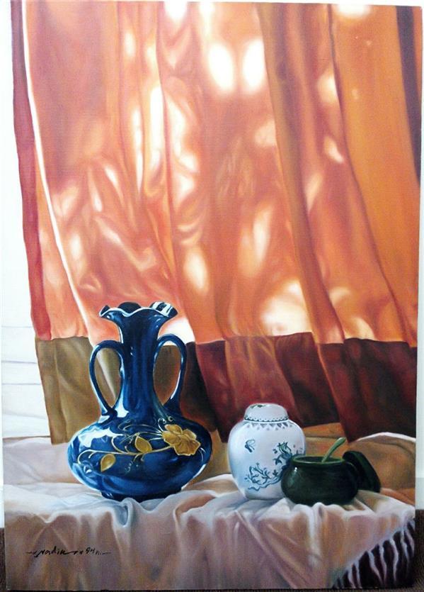 هنر نقاشی و گرافیک محفل نقاشی و گرافیک nadia khiatzadeh ابعاد# ۵۰*۷۰.مدیا #رنگ روغن .ماده سازنده #بوم.سبک #رئالیسم  .#سال خلق ۱۳۹۴