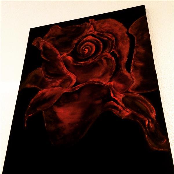 هنر نقاشی و گرافیک محفل نقاشی و گرافیک FARNAZ #red rose  50x50