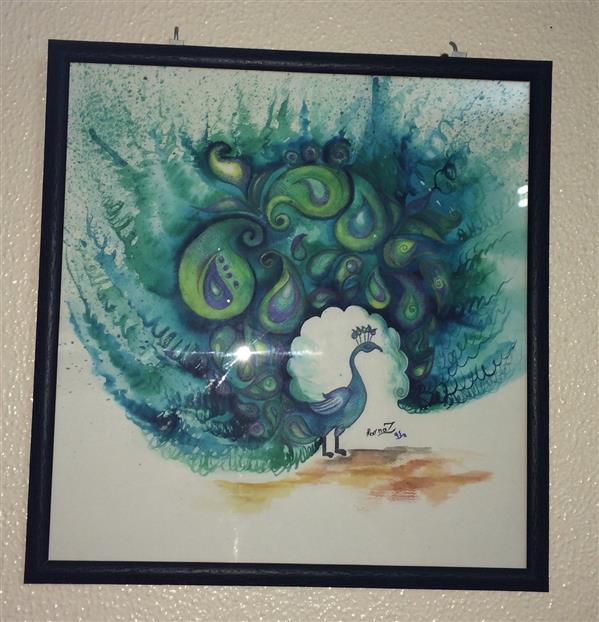 هنر نقاشی و گرافیک محفل نقاشی و گرافیک FARNAZ 50در50 #طاووس #آبرنگ
