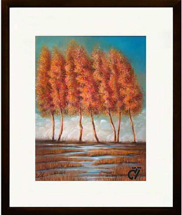 هنر نقاشی و گرافیک محفل نقاشی و گرافیک ایرج ملکی #پاییز (#پاستل ) - ۳۵ × ۴۵  زیر بیدی بودیم یکی از شاخه بالای سرم چیدم ، گفتم : چشم را باز کنید ، آیتی بهتر از این میخواهید ؟ می شنیدم که بهم می گفتند :  سحر میداند ، سحر . ! #سهراب