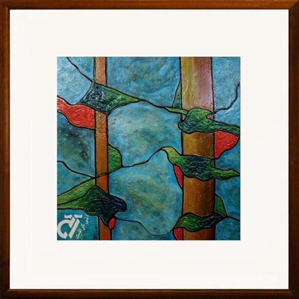 هنر نقاشی و گرافیک محفل نقاشی و گرافیک ایرج ملکی #خیال #رنگ_روغن ( ۸۰ × ۸۰ )