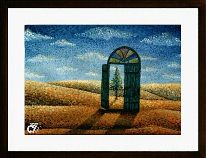 هنر نقاشی و گرافیک محفل نقاشی و گرافیک ایرج ملکی #رنگ_روغن ( ۵۰ ×۷۰ )